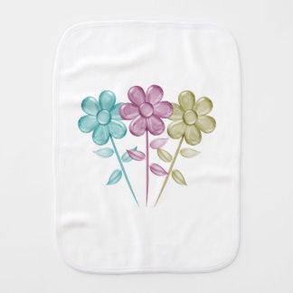 Flores del color de agua - paño del Burp del bebé
