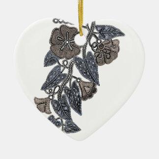 Flores del cordón adorno de cerámica