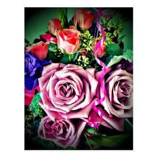 Flores del cumpleaños postal