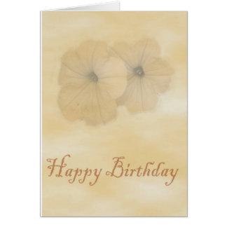 Flores del cumpleaños tarjetas