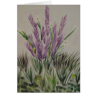 flores del cumpleaños tarjeta de felicitación
