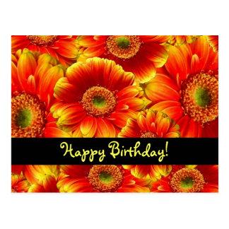 Flores del feliz cumpleaños postal
