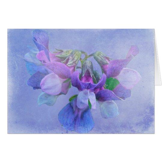 Flores del guisante de playa tarjeta de felicitación