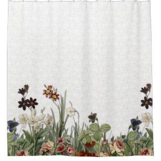 Flores del jardín botánico del vintage - cortina