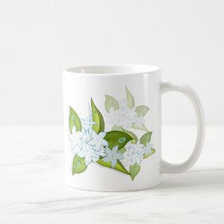 Flores del jazmín taza de café