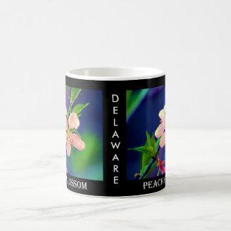 Flores del melocotón de Delaware Taza De Café