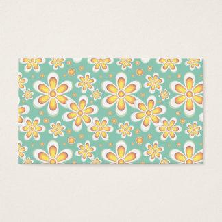 Flores del naranja del vintage tarjeta de negocios