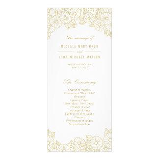 Flores del oro en las tarjetas blancas del estante lonas publicitarias