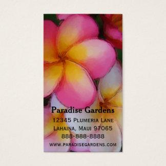Flores del Plumeria del Frangipani Tarjeta De Visita