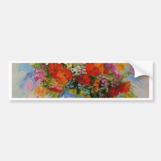 Flores del prado pegatina para coche