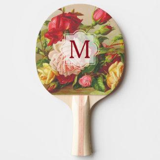 Flores del ramo de los rosas del Victorian del Pala De Ping Pong