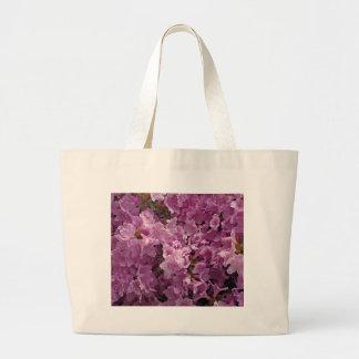 Flores del rododendro de Violett Bolsa Tela Grande