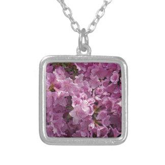 Flores del rododendro de Violett Colgante Cuadrado