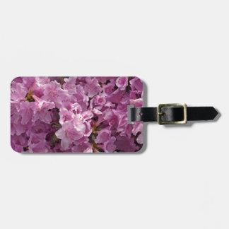 Flores del rododendro de Violett Etiqueta De Maleta