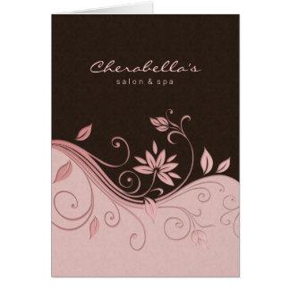 Flores del rosa de la tarjeta de felicitación del