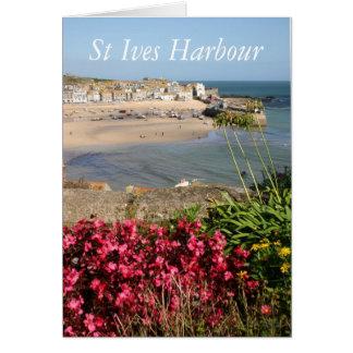 Flores del rosa del puerto de St Ives Tarjeta De Felicitación
