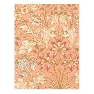 Flores del rosa en colores pastel postal