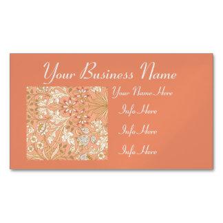Flores del rosa en colores pastel tarjetas de visita magnéticas (paquete de 25)