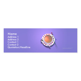 Flores del té - tamaño flaco tarjetas de visita mini