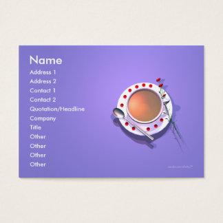 Flores del té - tamaño rechoncho tarjeta de negocios