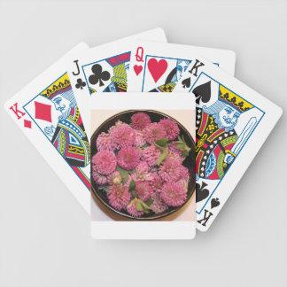 Flores del trébol rojo baraja de cartas