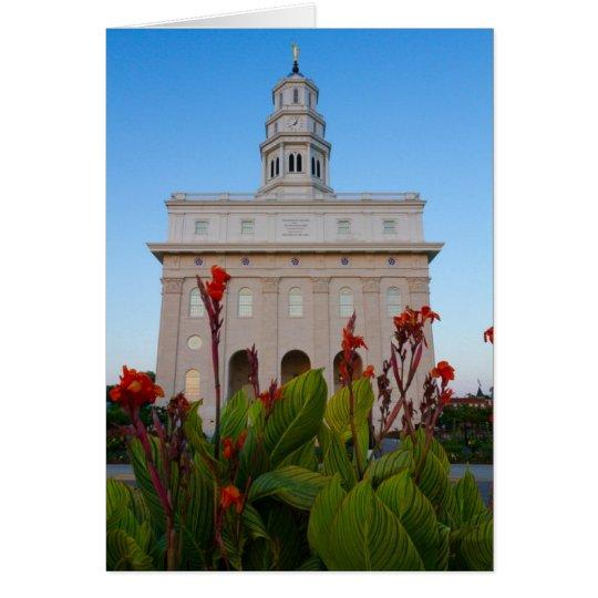 Flores del verano del templo de Nauvoo Tarjeta Pequeña
