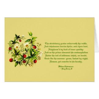Flores del vintage de la tarjeta de las fresas de