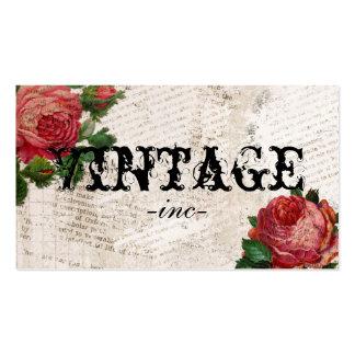 Flores del vintage sobre el texto apenado plantillas de tarjetas personales