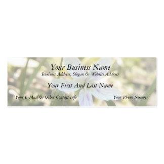 Flores delicadas de la belleza de primavera plantilla de tarjeta personal