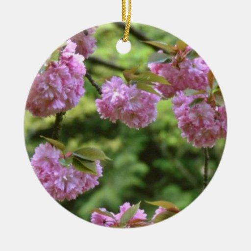 flores Doble-florecientes de las flores de cerezo Adorno De Navidad