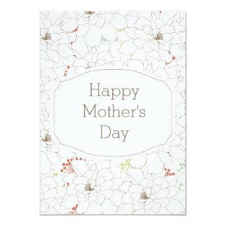 Flores elegantes felices del día de madre invitaciones personalizada