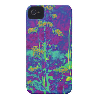 Flores en azul Case-Mate iPhone 4 cárcasa