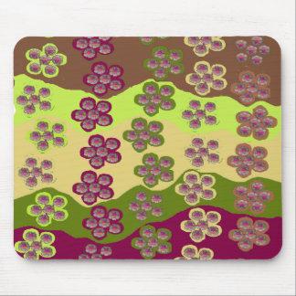 Flores en cojín de ratón del río alfombrilla de ratón