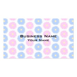 Flores en colores pastel en rosa y azul tarjetas de visita