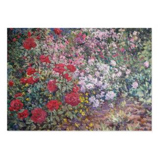 Flores en el calendario del jardín tarjetas de visita grandes