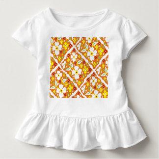 Flores en el naranja camiseta de bebé