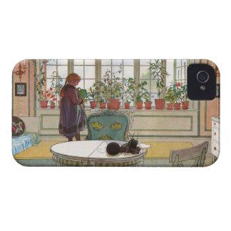 Flores en el Windowsill de Carl Larsson Carcasa Para iPhone 4 De Case-Mate