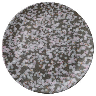 Flores en la tierra plato de cerámica