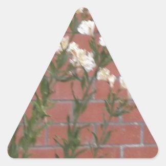 Flores en ladrillo pegatina triangular
