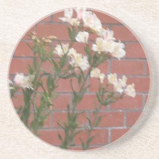 Flores en ladrillo posavasos