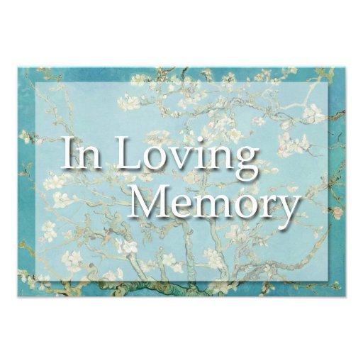 Flores - en memoria cariñosa - invitación fúnebre