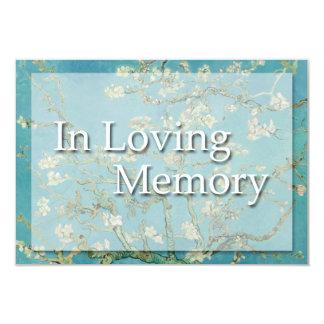 Flores - en memoria cariñosa - invitación fúnebre invitación 8,9 x 12,7 cm