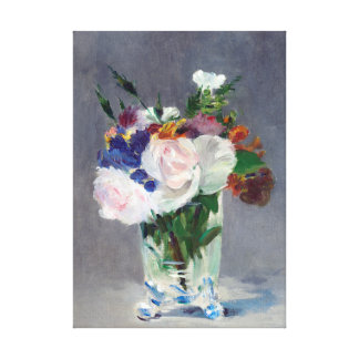 Flores en una bella arte cristalina de Eduardo