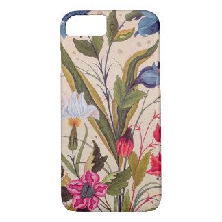 Flores exóticas con arte floral del vintage de los funda iPhone 7