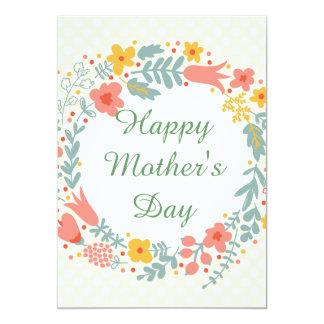 Flores felices de la primavera del día de madre invitacion personalizada