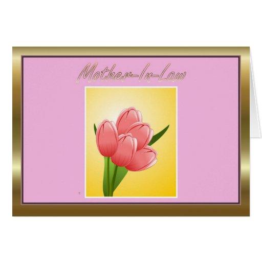 Flores felices del día de la suegra del día de la  tarjeton