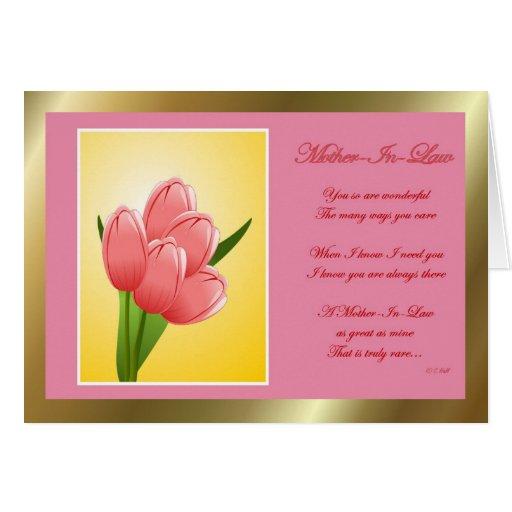 Flores felices del día de la suegra del día de la  felicitacion