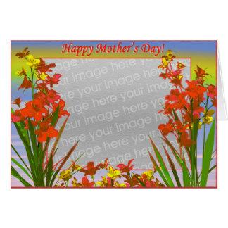 Flores felices del día de madre (marco de la foto) felicitación