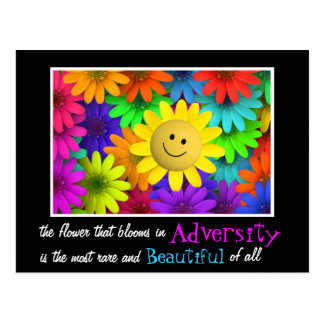 Flores felices lindas de la cara postal