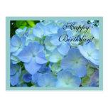 Flores florales azules de las postales del feliz c